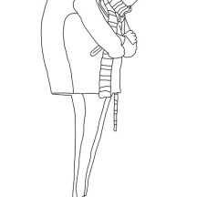 Gru from Despicable Me Coloring Page