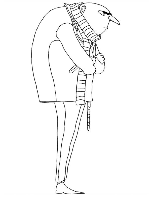Gru From Despicable Me Coloring Page Netart