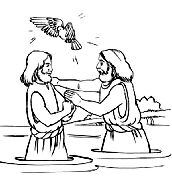 Holy Spirit Blessing Jesus Baptism