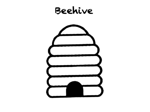 How to Draw a Beehive Coloring Page