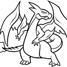 How to Draw a Charizard Coloring Page