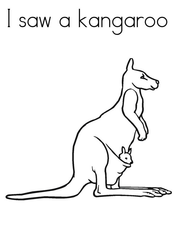 I Saw a Kangaroo Coloring Page