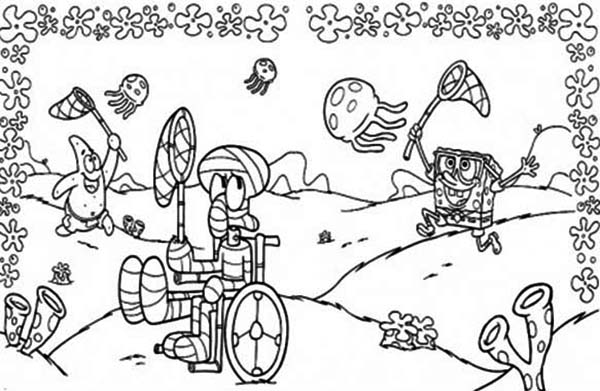jellyfish spongebob coloring pages - photo#17