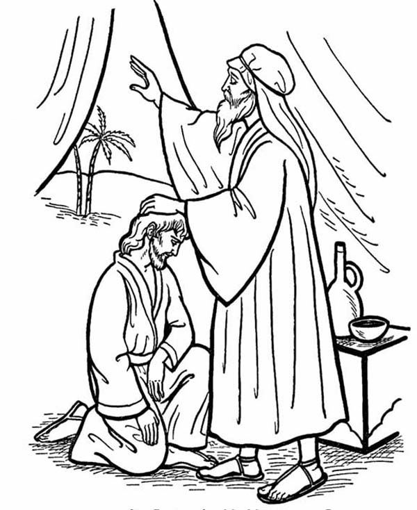 Abraham Isaac And Jacob Free Coloring Pages