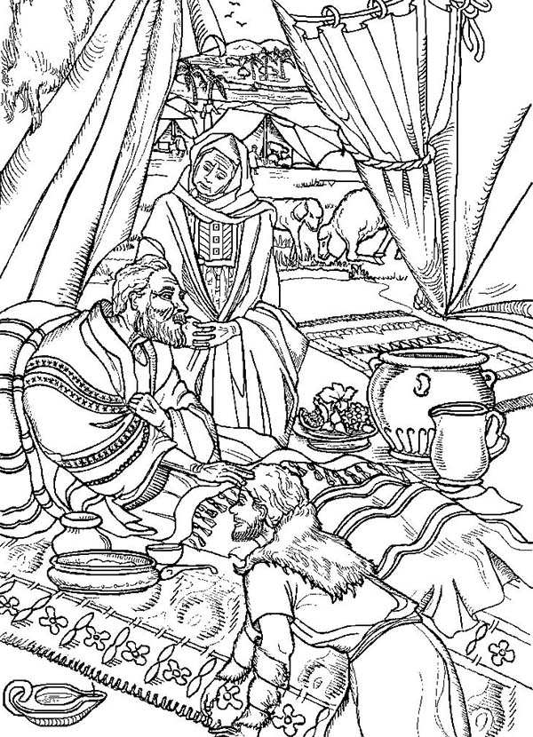 Jacob and Esau - Old Testament Coloring Pages | Bible-Printables | 830x600
