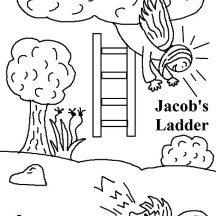 Jacob's Ladder in Jacob and Esau Coloring Page