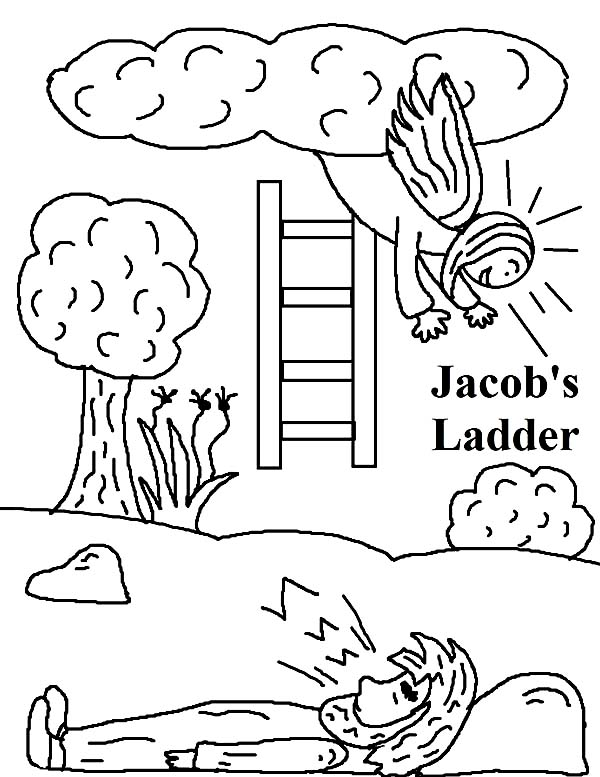 Jacob S Ladder In Jacob And Esau Coloring Page Netart