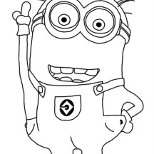 Jerry the Minion from Despicable Me Coloring Page