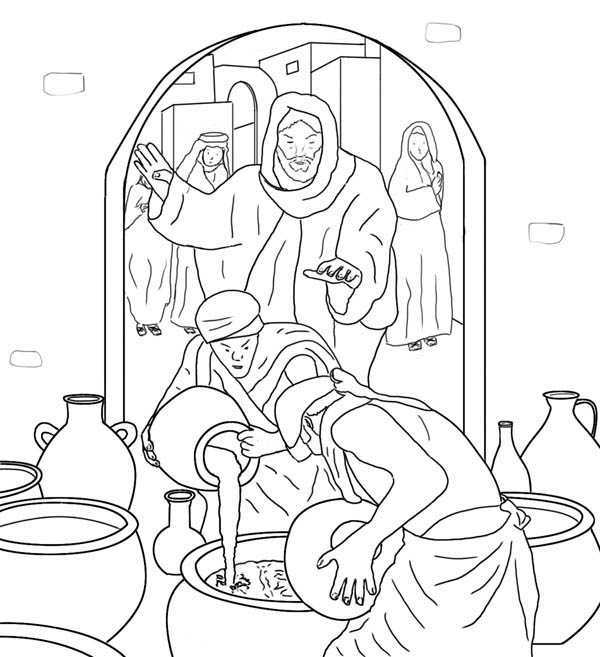 bible coloring pages miracles - photo#40