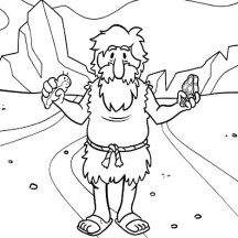 John the Baptist Holding Meat Coloring Page