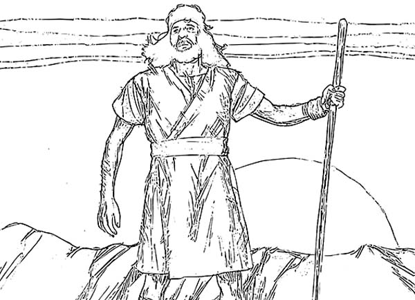 John the Baptist Picture Coloring Page