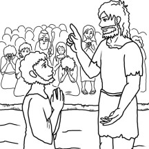 John the Baptist Speak to Jesus Coloring Page