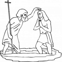 John the Baptist is Baptism Jesus Coloring Page