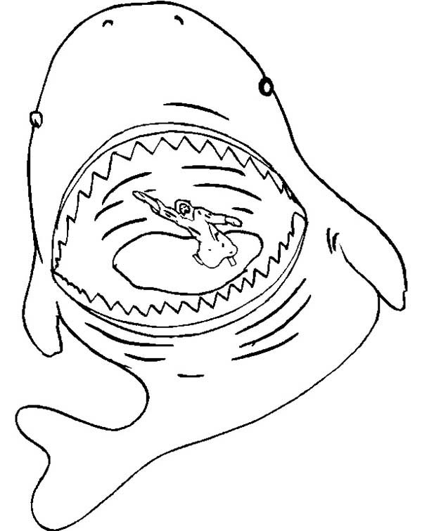 Jonah in Whale Stomach in Jonah and the Whale Coloring Page