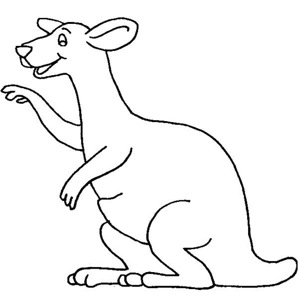 Kangaroo Laughing Coloring Page