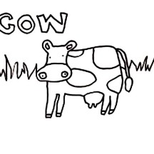 Kids Drawing of Cow Coloring Page