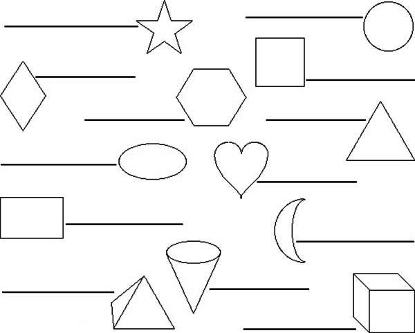 Label This Shapes Coloring Page