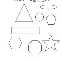 Learning Shapes for Elementary School Coloring Page