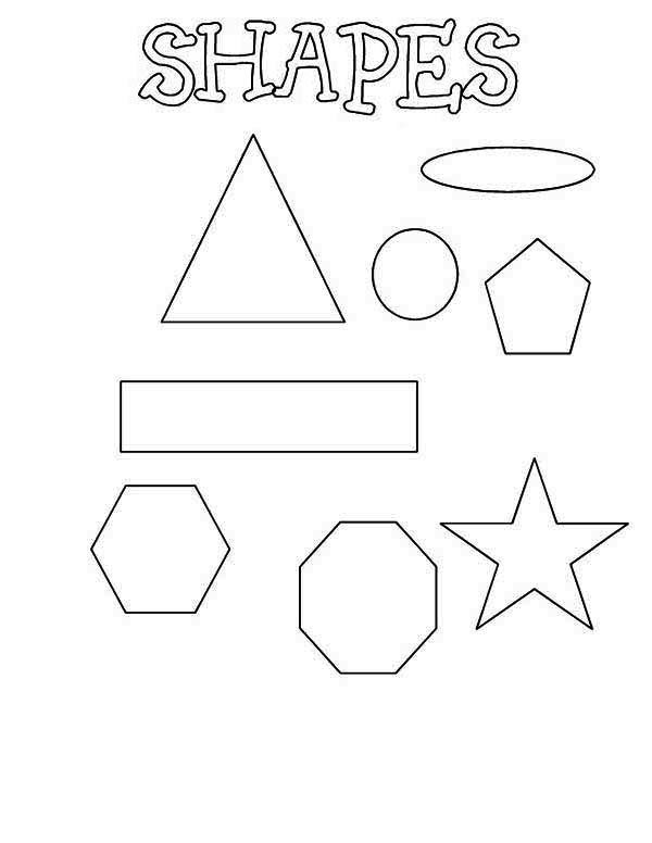 coloring pages for elementary school | Learning Shapes for Elementary School Coloring Page - NetArt