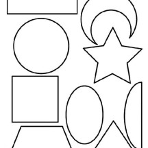 Lets Playing with Shapes Coloring Page