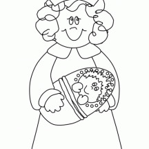 Little Girl Playing Nurse Coloring Page
