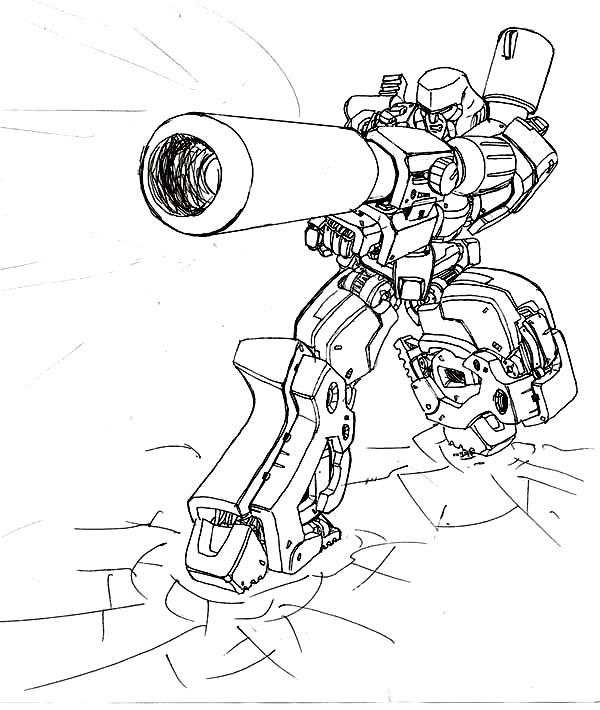 Loaded Bazooka of Megatron Coloring Page