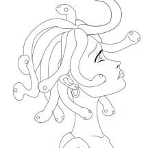 Manga Drawing Medusa Coloring Page