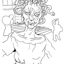Medusa Look Old Coloring Page