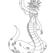 Medusa the Demon of Tartarus Coloring Page