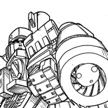 Megatron Aim His Enemy with Bazooka Coloring Page