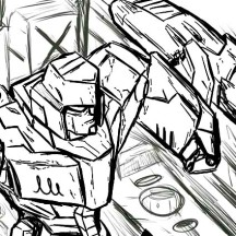 Megatron Catching Up The Autobot Coloring Page