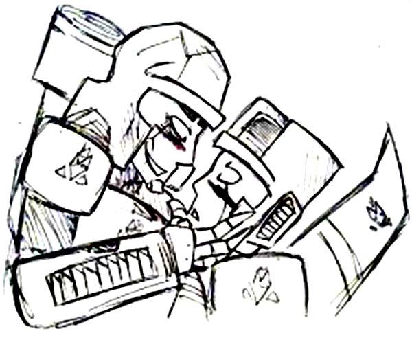 Megatron Threaten Autobot Coloring Page