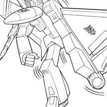 Megatron Transform to Fighter Coloring Page