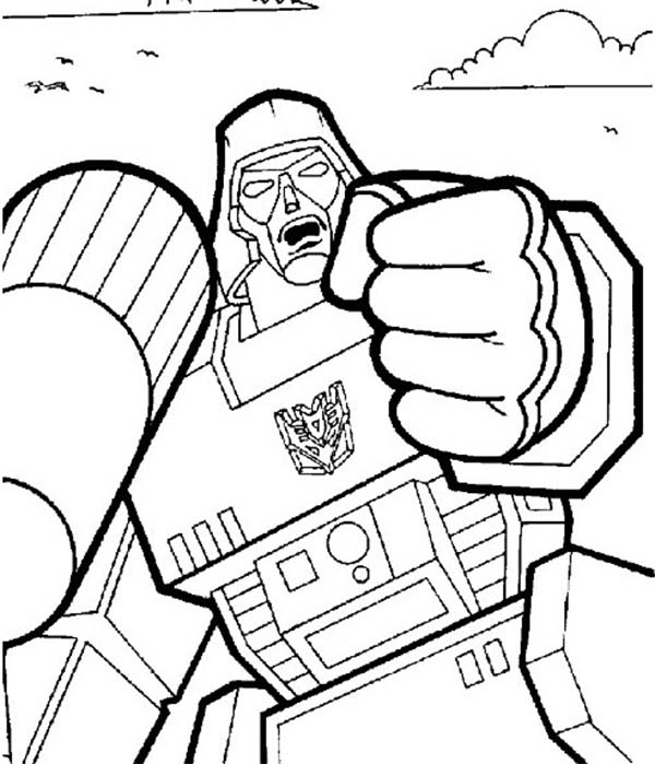 Megatron is Angry Coloring Page