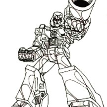 Megatron with Big Bazooka Coloring Page