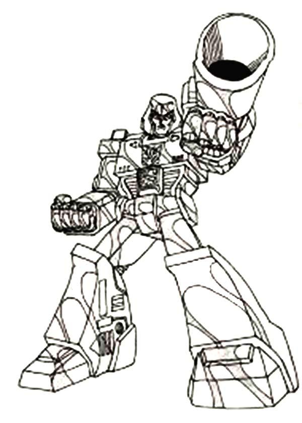 Megatron with Big Bazooka Coloring Page