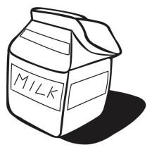Milk Carton Coloring Page