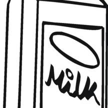 Milk Carton Picture Coloring Page