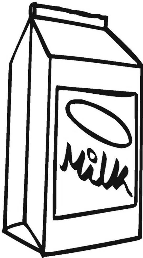 Milk Carton Picture Coloring Page