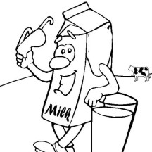 Milk Carton with Glassess Coloring Page