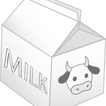 Milk Carton with Picture of Cow Coloring Page