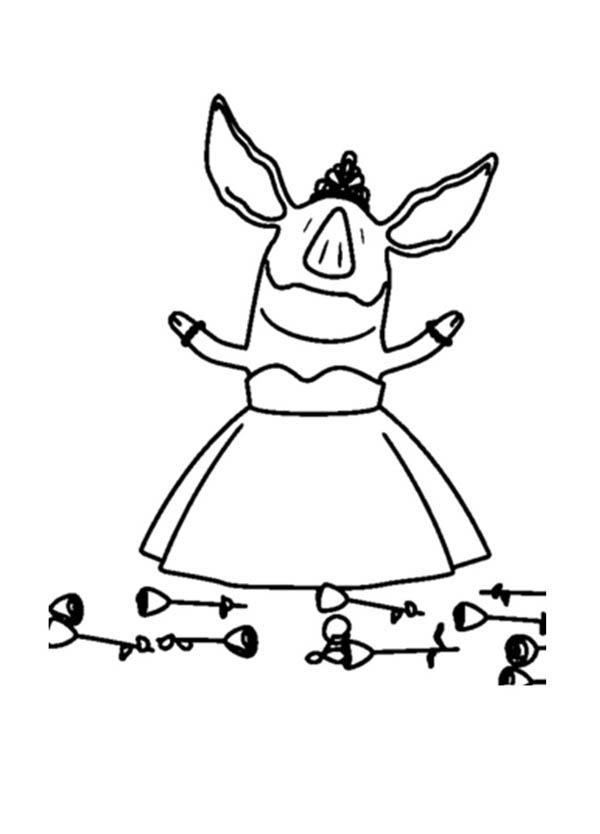 Olivia the Pig Success Performance Coloring Page