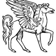 Pegasus Coloring Page for Kids