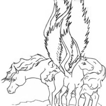 Pegasus Couple Coloring Page