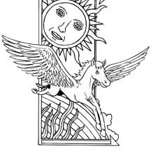 Pegasus Painting Coloring Page