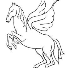 Pegasus Rearing Coloring Page