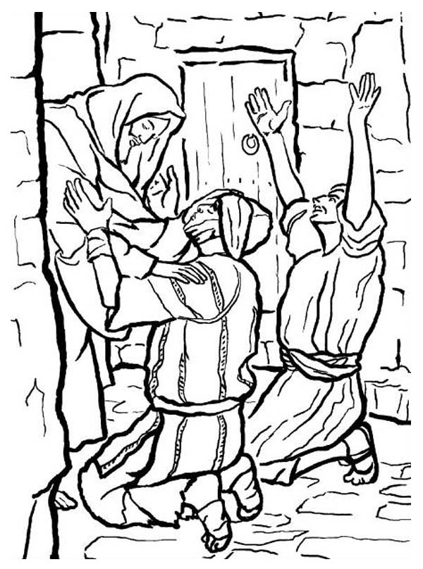 bible coloring pages miracles - photo#17