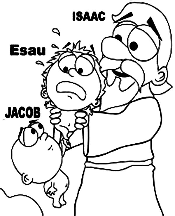 Free Coloring Pages, Jacob And Esau - Coloring Home | 743x600