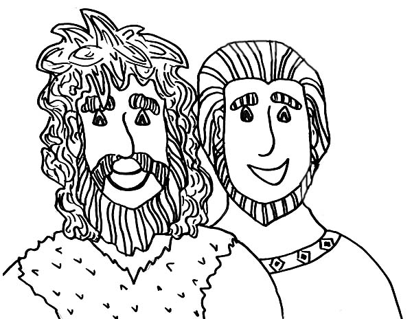 Picture of Jacob and Esau Coloring Page