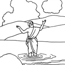 Picture of John the Baptist Coloring Page